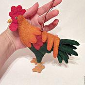 """Мягкие игрушки ручной работы. Ярмарка Мастеров - ручная работа Игрушка-подвеска """"петушок"""". Handmade."""