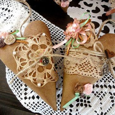 Куклы и игрушки ручной работы. Ярмарка Мастеров - ручная работа Кофейное сердечко интерьерная подвеска. Handmade.