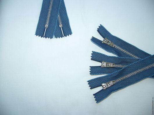 Шитье ручной работы. Ярмарка Мастеров - ручная работа. Купить Молния металлическая 16 см, неразъёмная, джинс. Handmade. Молния