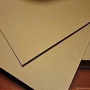 Бумага ручной работы. Ярмарка Мастеров - ручная работа Крафт Картон Kraftpak 225гр формат 148х210 100 листов в упаковке. Handmade.