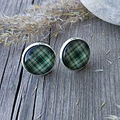 Украшения handmade. Livemaster - original item Earrings silver plated Cage green. Handmade.