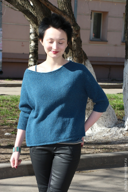 Кофты и свитера ручной работы. Ярмарка Мастеров - ручная работа. Купить И снова он... :). Handmade. Синий