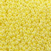 Материалы для творчества handmade. Livemaster - original item 10 grams of 10/0 seed Beads, Czech Preciosa 37186 Premium light yellow perlmutt. Handmade.