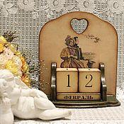 """Подарки к праздникам ручной работы. Ярмарка Мастеров - ручная работа Вечный календарь """" Любовь когда мы  вместе """". Handmade."""