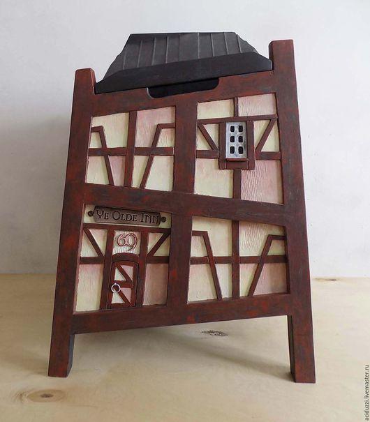 Корзины, коробы ручной работы. Ярмарка Мастеров - ручная работа. Купить ящик для игрушек декоративный фахверк. Handmade. Сундук, дом