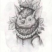Картины и панно ручной работы. Ярмарка Мастеров - ручная работа Летучий мышь.(в частной коллекции). Handmade.