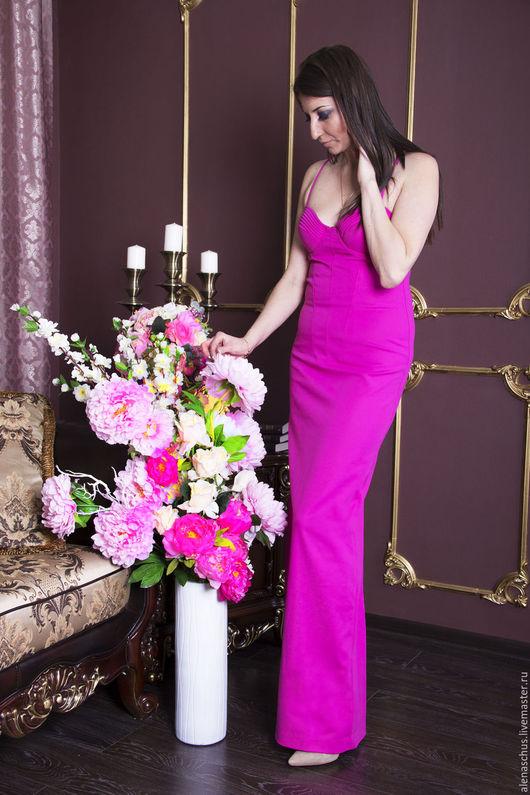 Платья ручной работы. Ярмарка Мастеров - ручная работа. Купить Платье вечернее в пол, платье нарядное. Handmade. Розовый