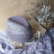 Аксессуары ручной работы. Ярмарка Мастеров - ручная работа Lavender clouds...Шляпка-пилотка. Handmade.