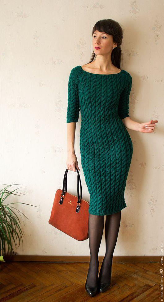 """Платья ручной работы. Ярмарка Мастеров - ручная работа. Купить Платье """"Медной горы хозяйка"""". Handmade. Тёмно-зелёный"""