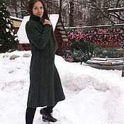Одежда ручной работы. Ярмарка Мастеров - ручная работа Пальто,вязаное из шерсти. Handmade.
