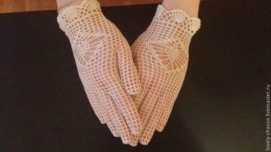 Кружевные перчатки от Людмилы Смирновой