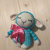 Мягкие игрушки ручной работы. Ярмарка Мастеров - ручная работа Овечка сплюшка. Handmade.