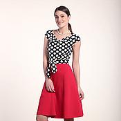 Одежда ручной работы. Ярмарка Мастеров - ручная работа 251:Летнее платье в горох, повседневное платье на лето. Handmade.