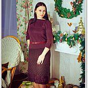"Одежда ручной работы. Ярмарка Мастеров - ручная работа Вязано-валяная юбка  ""Корица "". Handmade."