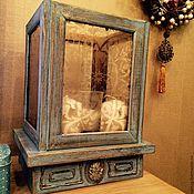"""Для дома и интерьера ручной работы. Ярмарка Мастеров - ручная работа Подсвечник """"Blue lagoon"""" средний. Handmade."""