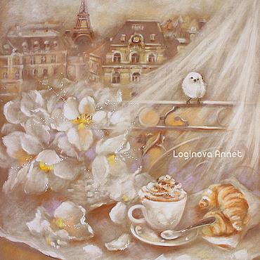 Картины и панно ручной работы. Ярмарка Мастеров - ручная работа Завтрак в Париже. Handmade.