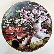 Винтаж handmade. Livemaster - original item Wall plate Royal MOSA Amsterdam, 1988. Handmade.