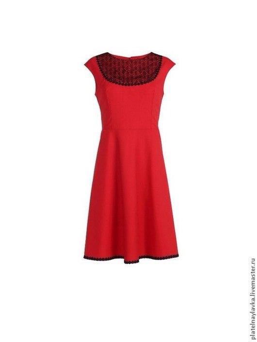 """Платья ручной работы. Ярмарка Мастеров - ручная работа. Купить Платье """"Марсель """" красное. Handmade. Коралловый, коктельное платье"""