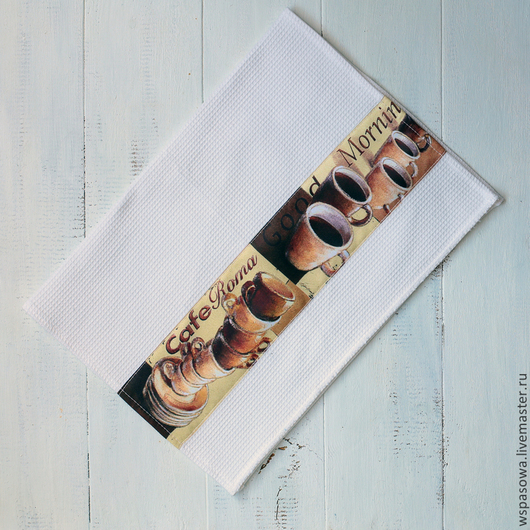 Кухня ручной работы. Ярмарка Мастеров - ручная работа. Купить Полотенце для рук Доброе утро. Handmade. Белый, полотенце для рук