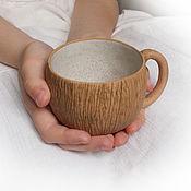 """Посуда ручной работы. Ярмарка Мастеров - ручная работа Чайная парочка """"Гнездо перепелки"""" с ручками. Handmade."""