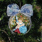"""Подарки к праздникам ручной работы. Ярмарка Мастеров - ручная работа """"Балеринка"""" елочный шар. Handmade."""