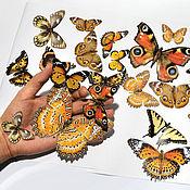 Для дома и интерьера handmade. Livemaster - original item Vinyl sticker - Colorful butterflies. Glow in the dark. Handmade.