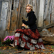 """Одежда ручной работы. Ярмарка Мастеров - ручная работа Юбка в стиле бохо """"Время странствий"""" длинная юбка бохо-шик. Handmade."""