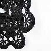 Шарфы ручной работы. Ярмарка Мастеров - ручная работа Вязаный ажурный шарф. Handmade.