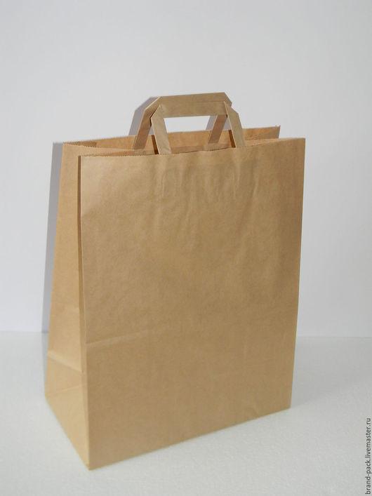 Упаковка ручной работы. Ярмарка Мастеров - ручная работа. Купить Крафт пакет, 37x32x20 см. Handmade. Коричневый, крафт упаковка