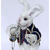 Куклы и игрушки ручной работы. Ярмарка Мастеров - ручная работа Миниатюрный Белый Кролик. Handmade.