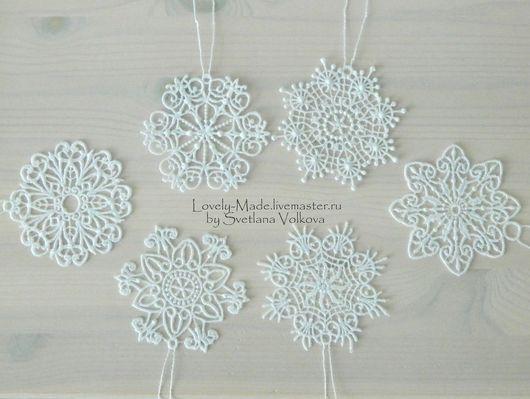 Новый год 2017 ручной работы. Ярмарка Мастеров - ручная работа. Купить Набор снежинок. Кружево. Snowflake lace. Handmade. Снежинка
