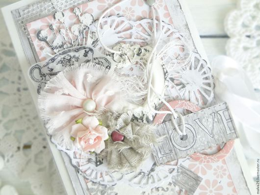"""Открытки на все случаи жизни ручной работы. Ярмарка Мастеров - ручная работа. Купить открытка-шоколадница """"LOVE"""". Handmade. Бледно-розовый"""