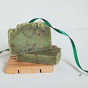 Косметика ручной работы. Ярмарка Мастеров - ручная работа Мыло с нуля  Шелковые травы  натуральное ручной работы зеленый. Handmade.
