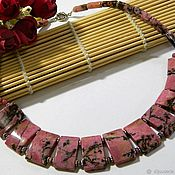 Украшения handmade. Livemaster - original item Cleopatra necklace, Rhodonite genuine. Handmade.
