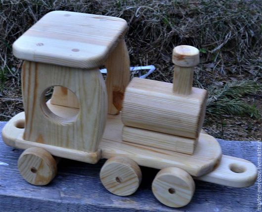 Вальдорфская игрушка ручной работы. Ярмарка Мастеров - ручная работа. Купить паровоз. Handmade. Паровоз, машинка из дерева, паровоз деревянный