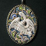 Украшения ручной работы. Ярмарка Мастеров - ручная работа Кулон Белый лебедь. Handmade.