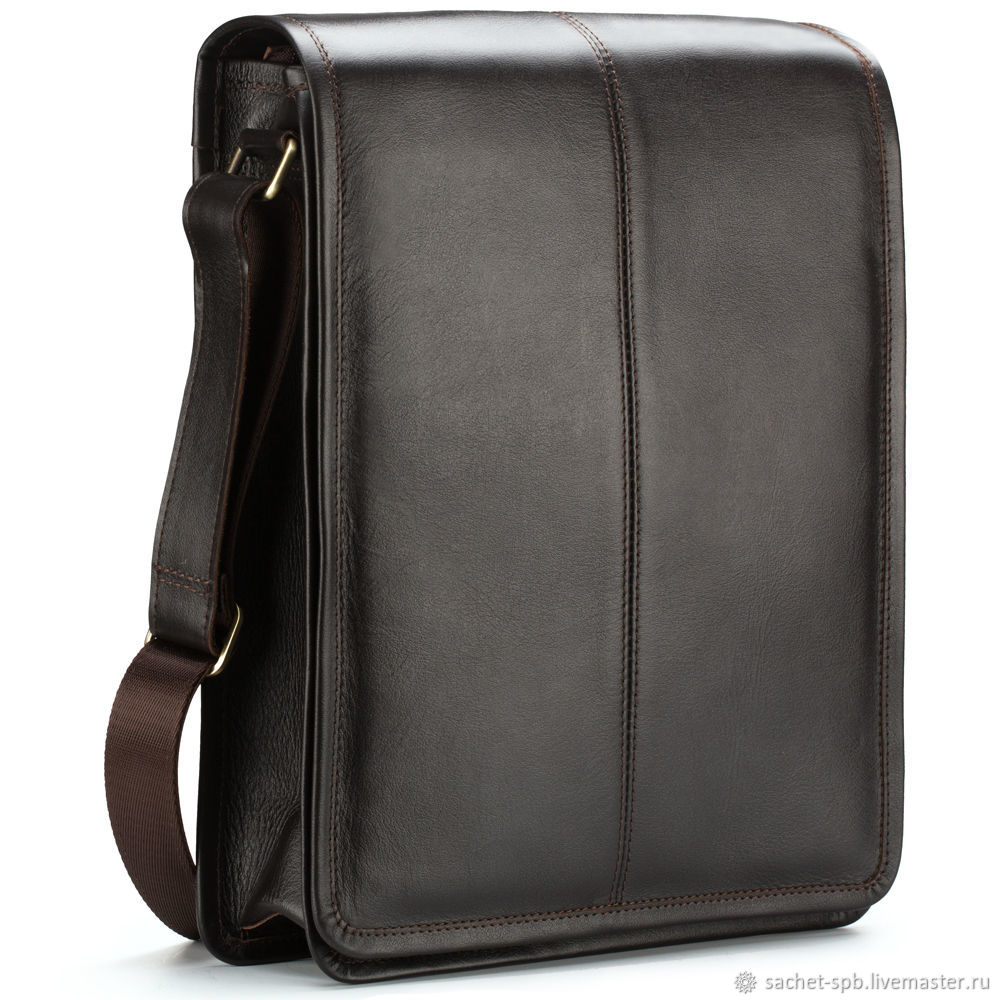 Leather bag 'Mitchell' (dark brown), Classic Bag, St. Petersburg,  Фото №1