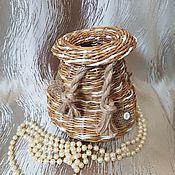 """Вазы ручной работы. Ярмарка Мастеров - ручная работа Ваза """"Плетеный мешочек"""". Handmade."""
