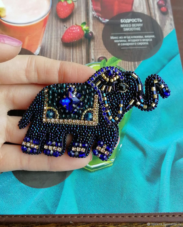 brooch 'the Elephant'. Elephant gift. Brooch talisman, Brooches, Novosibirsk,  Фото №1