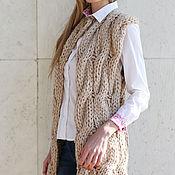Одежда handmade. Livemaster - original item Tank top beige braids. Handmade.