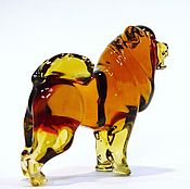 Для домашних животных, handmade. Livemaster - original item Decorative colored glass figurine dog Chow Chow lion Shaggy. Handmade.