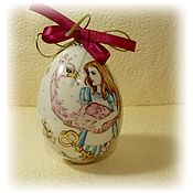 Подарки к праздникам handmade. Livemaster - original item Hanging Christmas tree decoration-porcelain egg