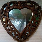 """Для дома и интерьера ручной работы. Ярмарка Мастеров - ручная работа Зеркало в раме """"Сердечко"""". Handmade."""