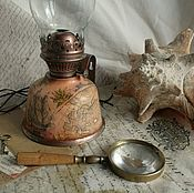 """Для дома и интерьера ручной работы. Ярмарка Мастеров - ручная работа лампа """"Повелитель морей"""". Handmade."""