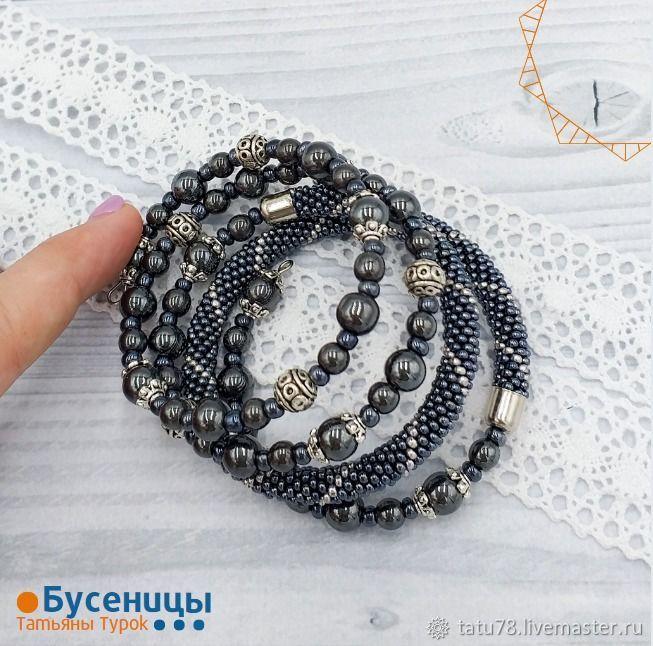 ГЕМАТИТ браслет, Браслет из бусин, Красноярск,  Фото №1