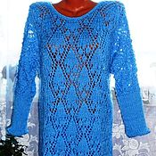 Одежда handmade. Livemaster - original item dress knitted. Heaven gave. Fishnet. Handmade.