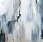 Картины ручной работы. Ярмарка Мастеров - ручная работа Картина BLUE 80х100 см. Handmade.