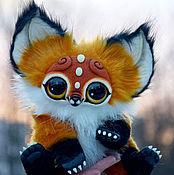 Куклы и игрушки ручной работы. Ярмарка Мастеров - ручная работа Лисий зверек. Handmade.