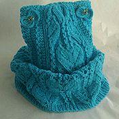 Работы для детей, ручной работы. Ярмарка Мастеров - ручная работа Шапка снуд с вышивкой. Handmade.