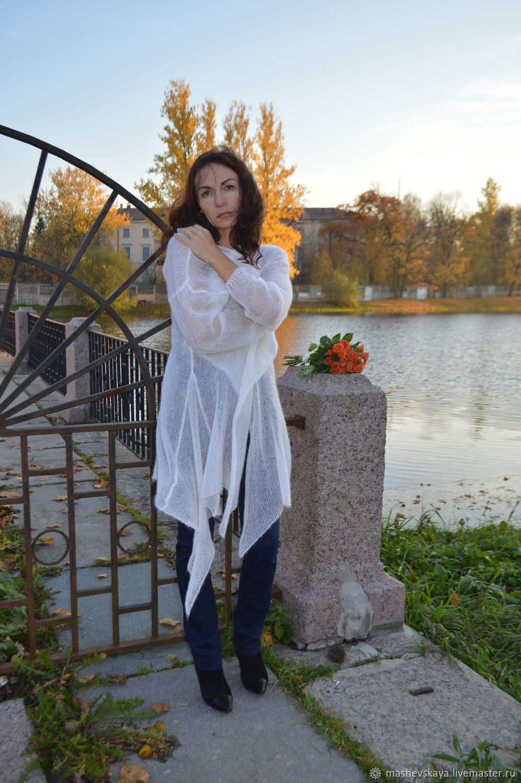 "Кардиган-паутинка из кидмохера ""Снежность"", Кардиганы, Санкт-Петербург,  Фото №1"